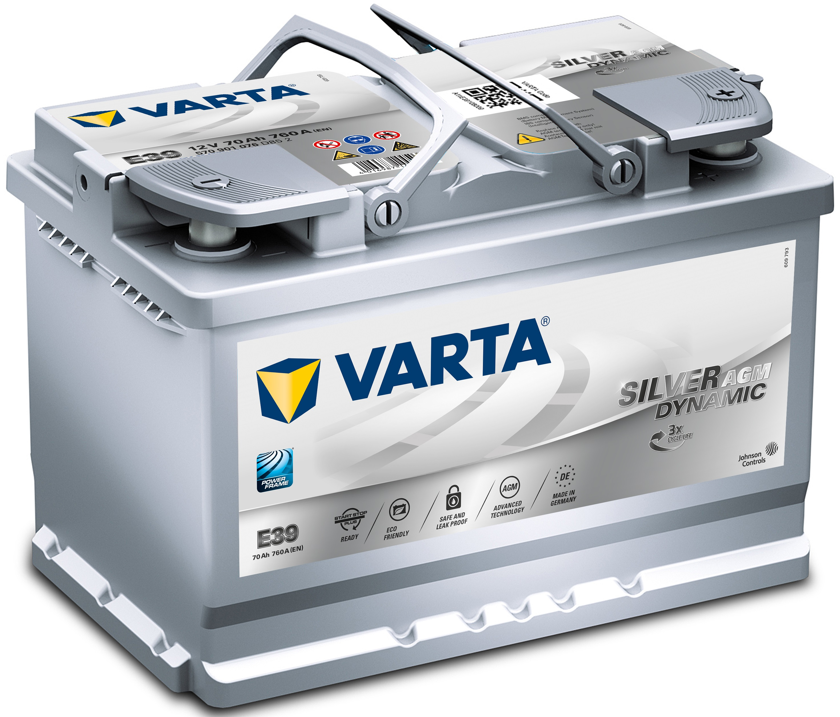 Acumulator auto VARTA Silver Dynamic AGM (Start Stop Plus AGM) 70Ah