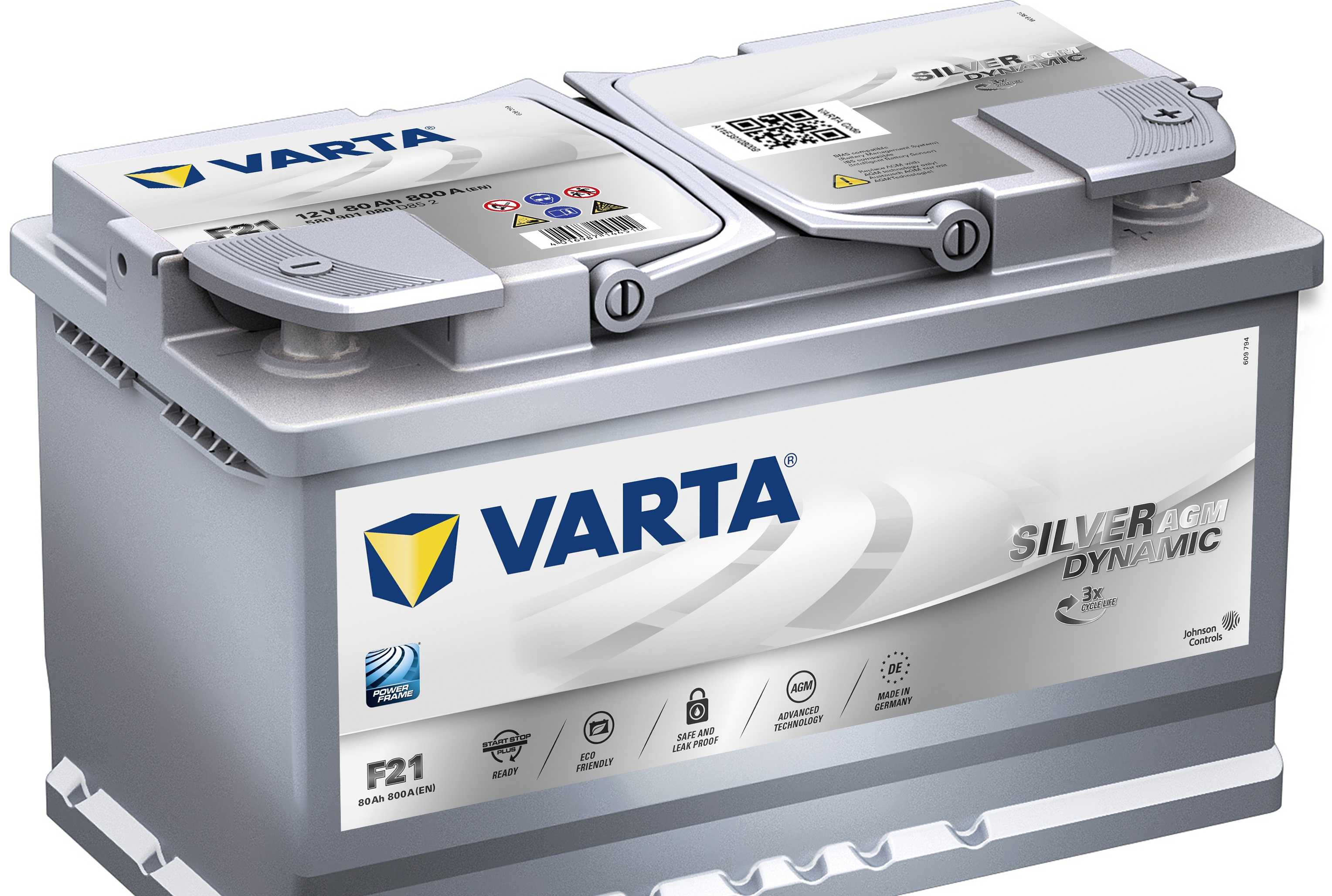 Acumulator auto VARTA Silver Dynamic AGM (Start Stop Plus AGM) 80Ah