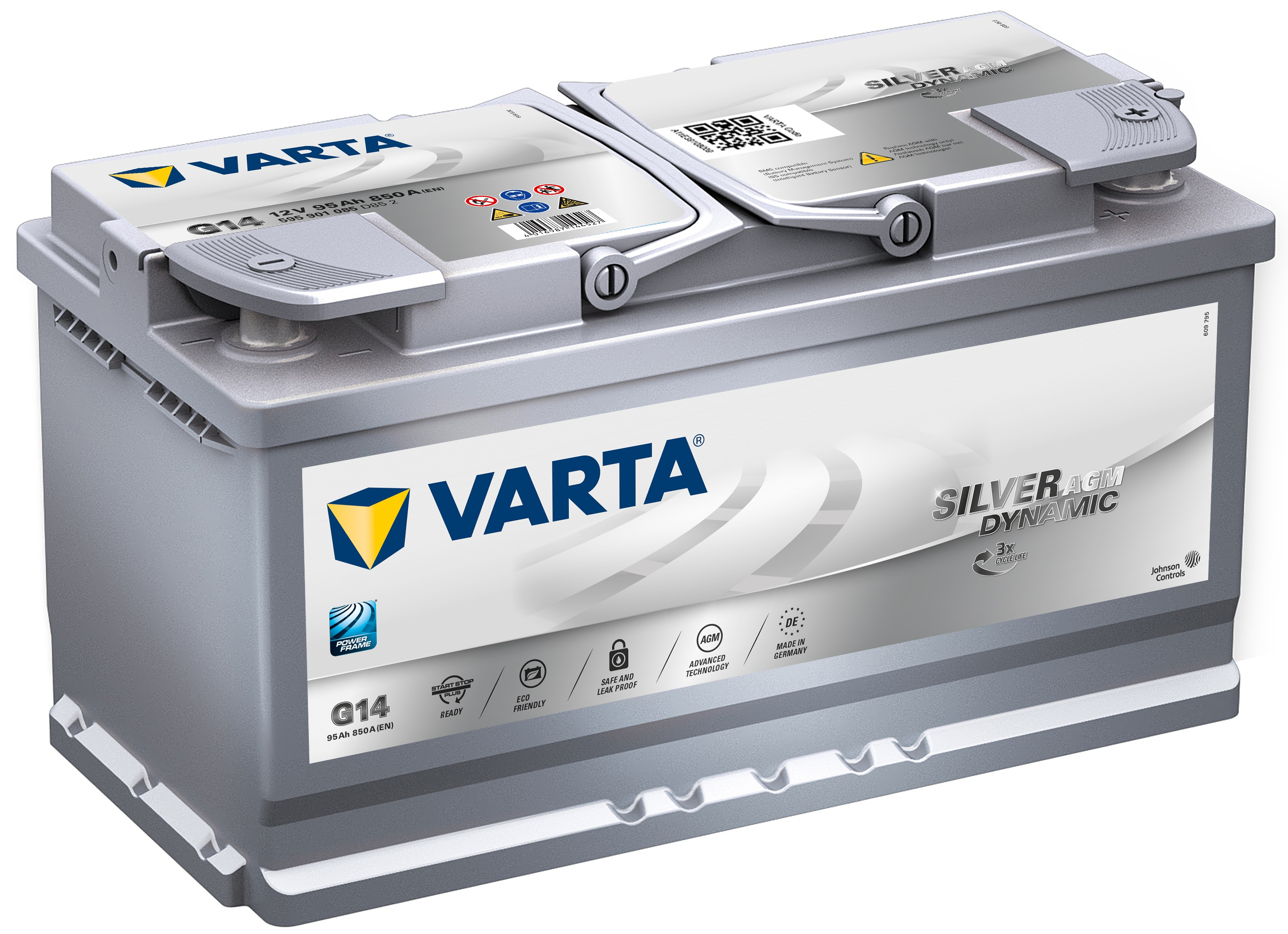 Acumulator auto VARTA Silver Dynamic AGM (Start Stop Plus AGM) 95Ah