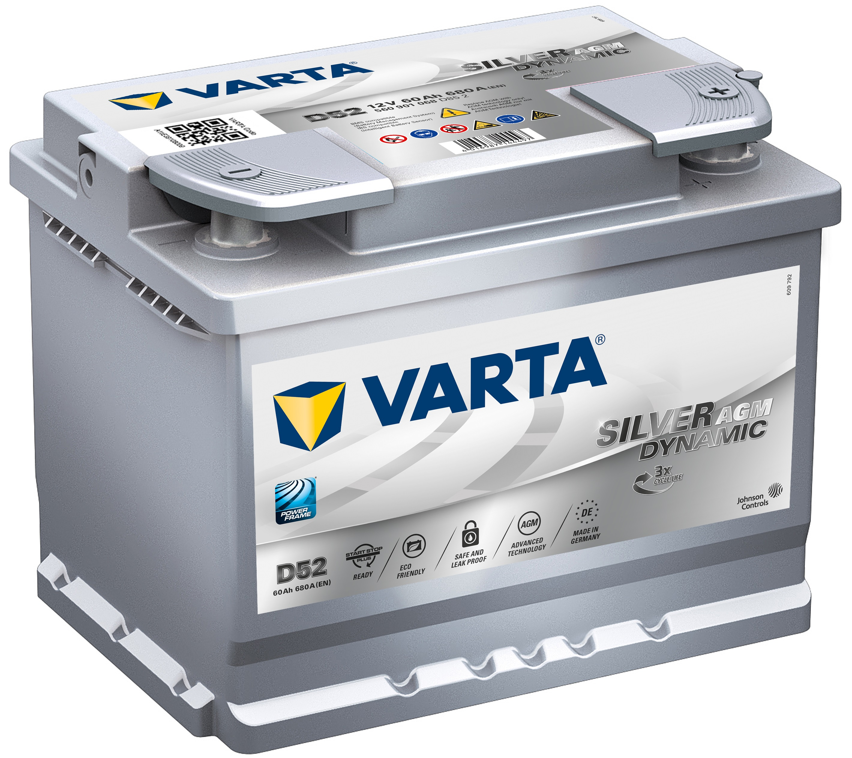 Acumulator auto VARTA Silver Dynamic AGM (Start Stop Plus AGM) 60Ah
